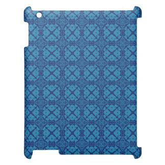 Azul floral geométrico del vintage en azul