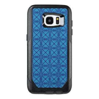 Azul floral geométrico del vintage en azul funda OtterBox para samsung galaxy s7 edge