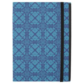 """Azul floral geométrico del vintage en azul funda para iPad pro 12.9"""""""