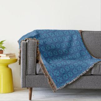 Azul floral geométrico del vintage en azul manta