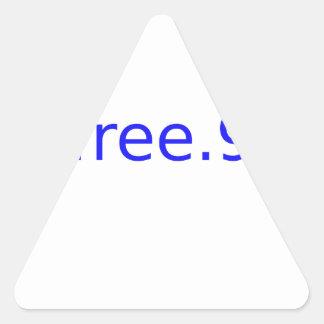 azul $free.99 pegatina triangular