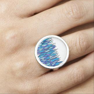 azul fuego anillo