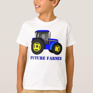 Azul futuro del granjero camiseta