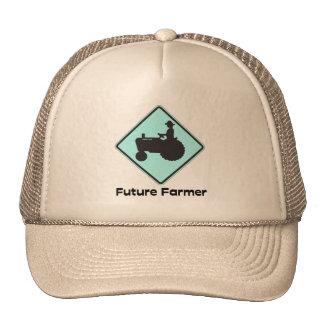 Azul futuro del granjero gorras de camionero