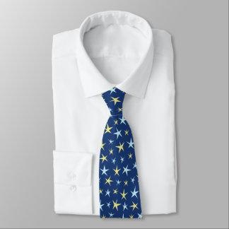 Azul geométrico de los años 60 retros del modelo corbatas