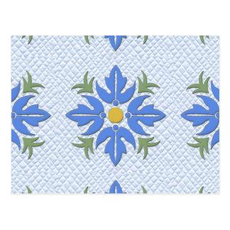 Azul hawaiano del edredón de la flor del estilo postal
