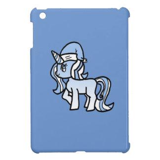 Azul helado nieve del unicornio del navidad