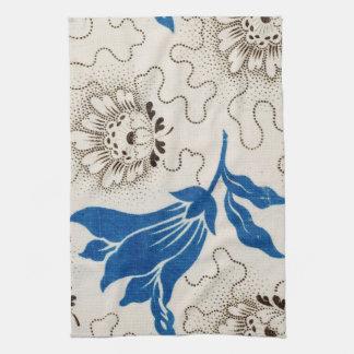 Azul hermoso con las toallas punteadas de la