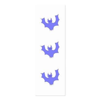 Azul - historieta púrpura del palo tarjetas de visita mini