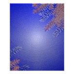 Azul II del Poinsettia del navidad Tarjeta Publicitaria