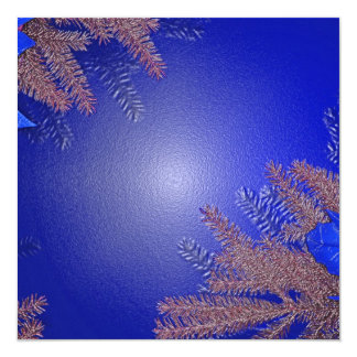 Azul III del Poinsettia del navidad Invitación