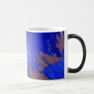 Azul III del Poinsettia del navidad Taza Mágica