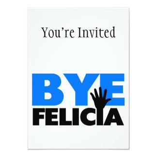Azul intrépido de la onda de la mano de Felicia Invitación 12,7 X 17,8 Cm