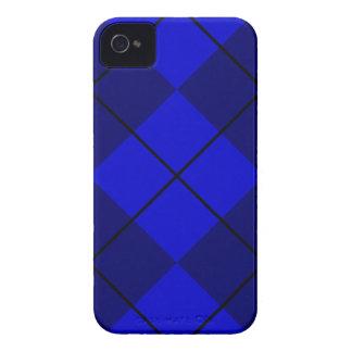 Azul intrépido en Argyle azul Case-Mate iPhone 4 Fundas