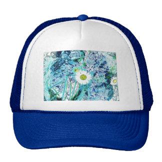 Azul loco de la margarita gorras