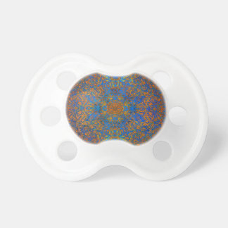 azul mágico de la mandala chupete de bebe