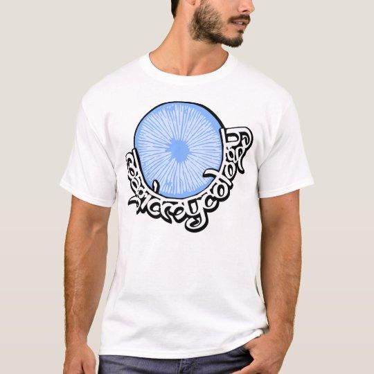 Azul mágico de la micología camiseta