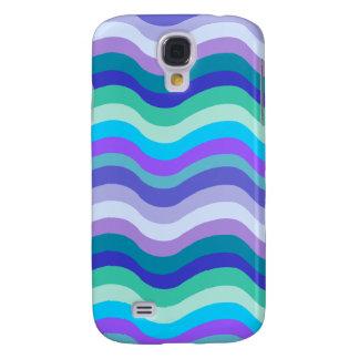 Azul maravilloso púrpura y líneas onduladas model