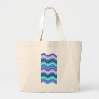 Azul maravilloso, púrpura y líneas onduladas model bolsa de mano