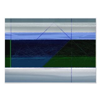 Azul marino abstracto invitación 12,7 x 17,8 cm