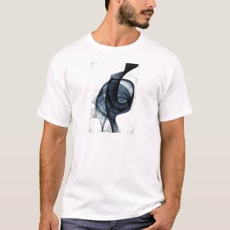 azul marino de humo y de peligro del wirl camiseta