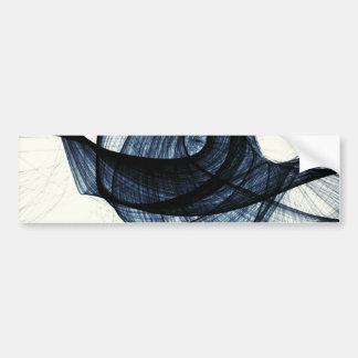 azul marino de humo y de peligro del wirl pegatina para coche