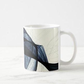 azul marino de humo y de peligro del wirl taza básica blanca