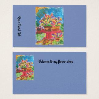 azul marino estándar de la tarjeta de visita