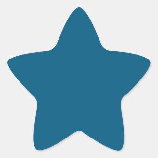 Azul marino pegatina en forma de estrella
