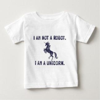 Azul marino retro del unicornio camisetas