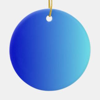 Azul medio a la pendiente vertical azul eléctrica adorno de navidad