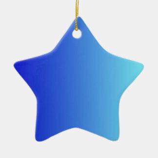 Azul medio a la pendiente vertical azul eléctrica adorno de cerámica en forma de estrella