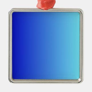 Azul medio a la pendiente vertical azul eléctrica adorno cuadrado plateado