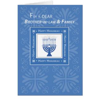 Azul Menor de los deseos de Jánuca del cuñado y de Tarjeta De Felicitación