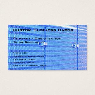 Azul metálico tarjeta de visita