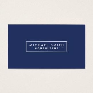 Azul moderno simple llano elegante profesional tarjeta de negocios
