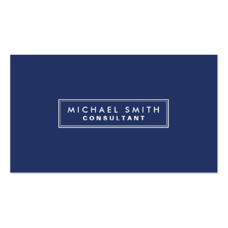 Azul moderno simple llano elegante profesional tarjetas de visita
