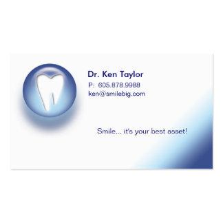 Azul molar dental de la tarjeta de visita de la ci