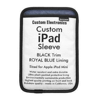 Azul negro y real de la mini manga del iPad de Fundas Para iPad Mini