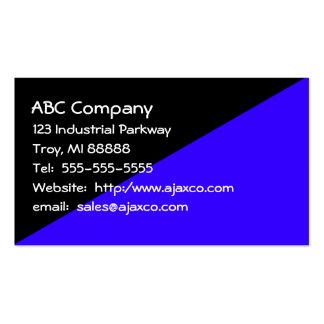Azul negro y real de la tarjeta de visita de uso
