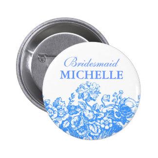 Azul nupcial de la cesta floral del favor de la du pin