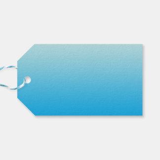 Azul Ombre de la aguamarina Etiquetas Para Regalos