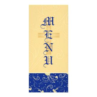 Azul oro cruz cristiana damasco casando el men lona