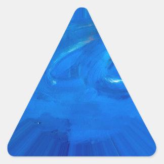 azul pegatina triangular