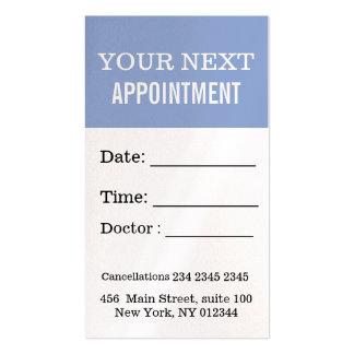 Azul profesional de la serenidad de la cita en tarjetas de visita