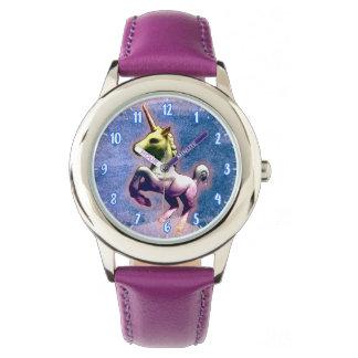Azul quemado el | del reloj del unicornio