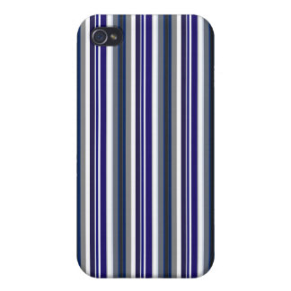 Azul rayado iPhone 4/4S carcasas
