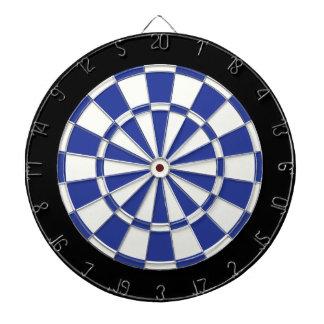 Azul real blanco y negro tablero de dardos