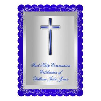 Azul real de la primera plata de la comunión santa
