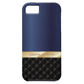Azul real de lujo con el caso conocido de encargo funda para iPhone SE/5/5s